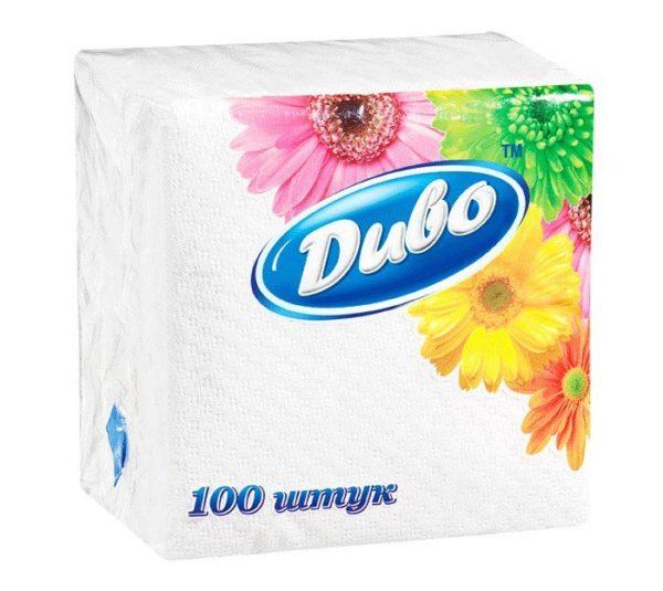 Салфетки столовые бумажные Диво, белые, 100 шт. фото