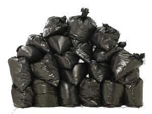 Пакеты для мусора черные 100 шт. по 35 л.