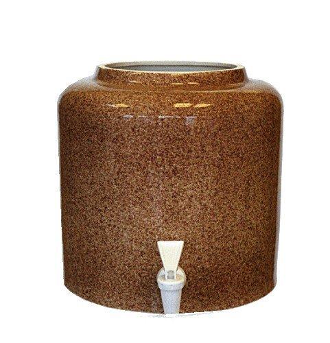 Керамический диспенсер для воды «Мрамор коричневый» фото