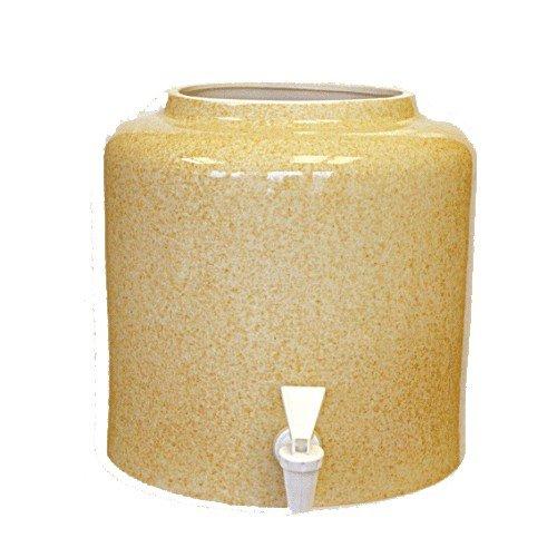 Керамический диспенсер для воды «Мрамор песок» фото