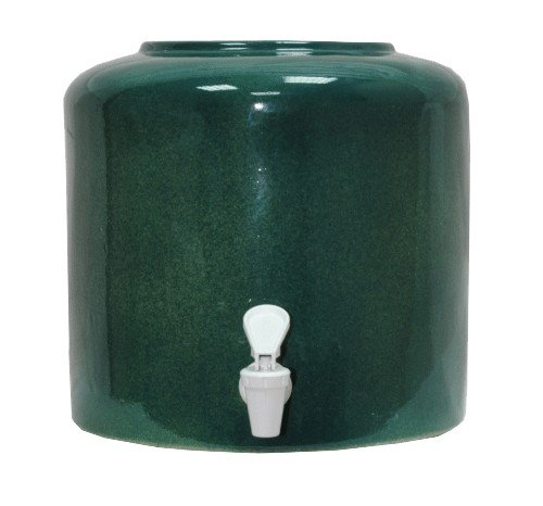 Керамический диспенсер для воды «Мрамор зеленый» фото