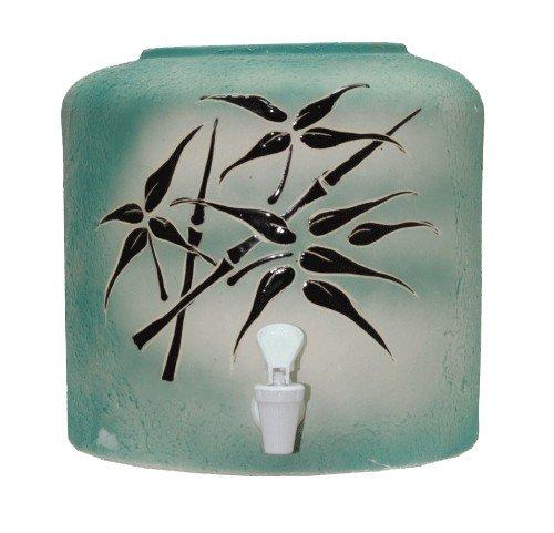 Керамический диспенсер для воды «Бамбук зеленый» шамот фото