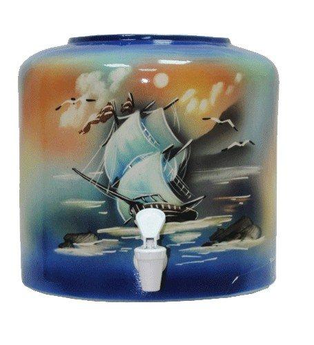 Керамический диспенсер для воды «Парус» синий фото