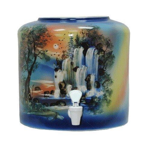 Керамический диспенсер для воды «Водопад» синий фото