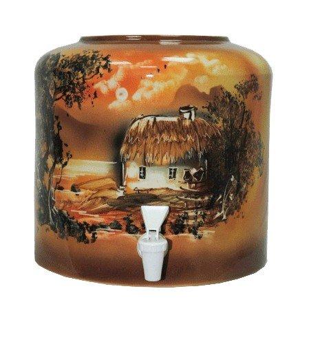 Керамический диспенсер для воды «Хата» коричневый фото