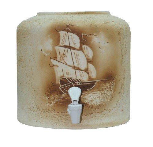 Керамический диспенсер для воды «Парус» шамот фото