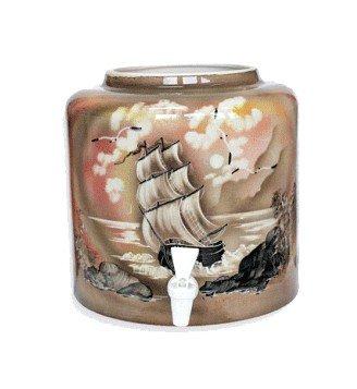 Керамический диспенсер для воды «Парус» коричневый фото