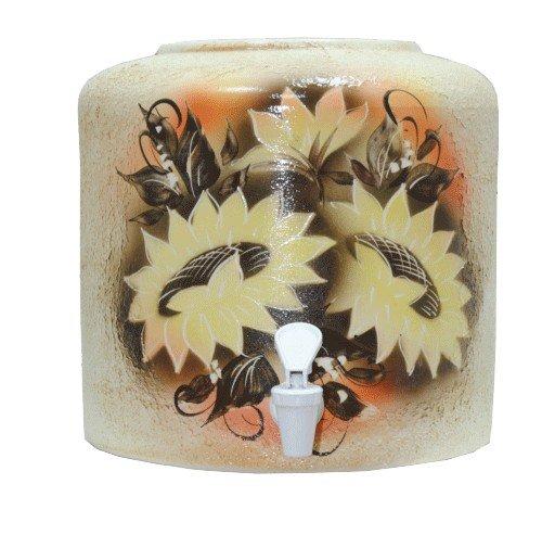 Керамический диспенсер для воды «Подсолнух» шамот фото
