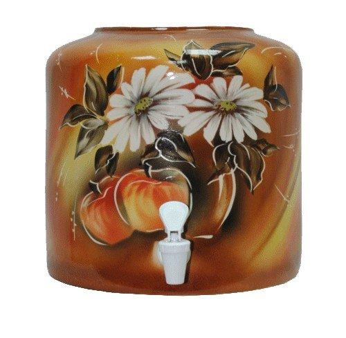Керамический диспенсер для воды «Яблоки» коричневый фото