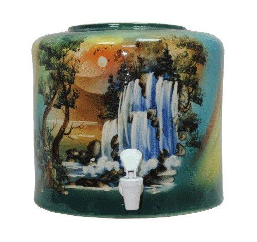 Керамический диспенсер для воды «Водопад» зеленый фото