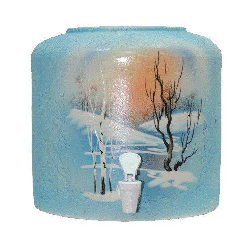 Керамический диспенсер для воды «Зима» шамот фото
