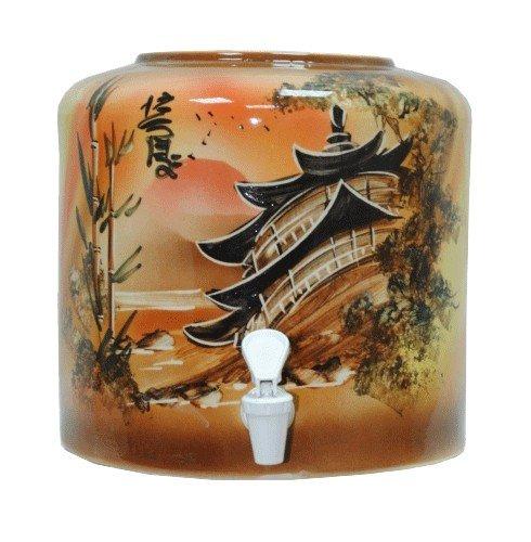 Керамический диспенсер для воды «Китай» коричневый фото