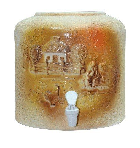 Керамический диспенсер для воды «Хата лепка» шамот фото
