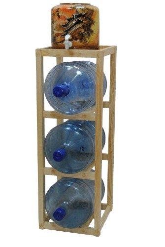Подставка деревянная напольная под 3 бутыли 18.9 л фото