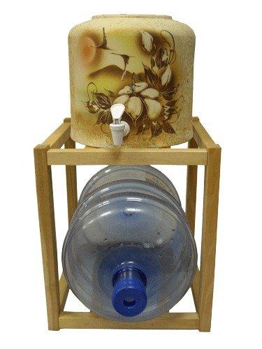 Подставка настольная деревянная под 1 бутыль фото
