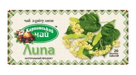 Карпатский чай Липа, 20 пакетиков по 1,35 г