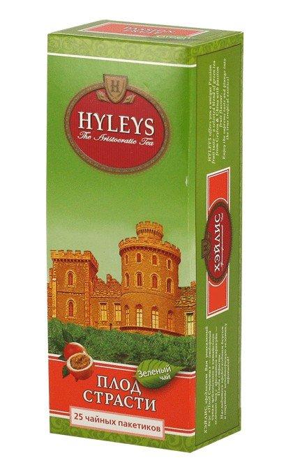 Зеленый чай Плод страсти ТМ Хэйлис | HYLEYS, 25 пакетиков фото