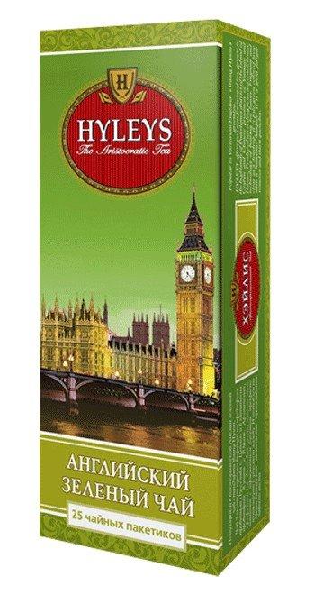 Чай зеленый Английский HYLEYS 25 пакетиков English Green Tea