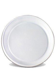 Тарелки пластиковые одноразовые, диаметр: 17 см белые фото