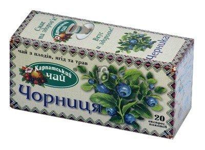 Карпатский чай Черника, 20 пакетиков фото