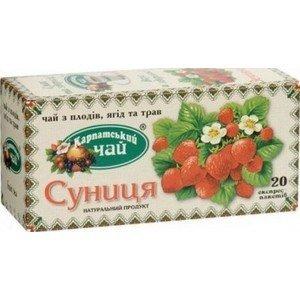 Карпатский чай Земляника, 20 пакетиков фото