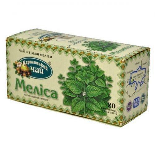 Карпатский чай Мелисса, 20 пакетиков фото