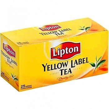 Черный чай ТМ Lipton, 25 пакетиков фото