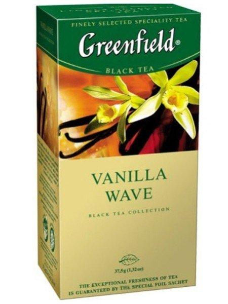 Черный чай Greenfield Ваниль, 25 пакетиков фото