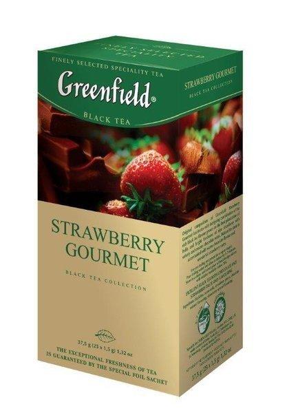 Черный чай Greenfield, Клубничный, 25 пакетиков фото