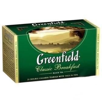 Черный чай ТМ Greenfield, 25 пакетиков фото