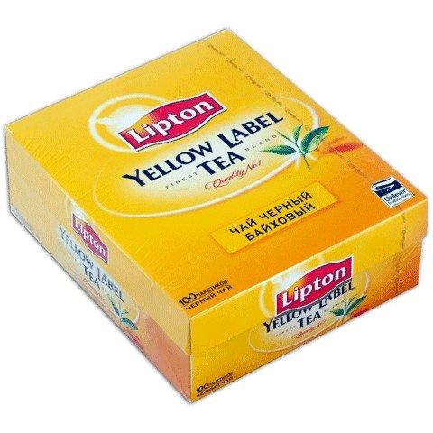 Черный чай ТМ Lipton, 100 пакетиков фото