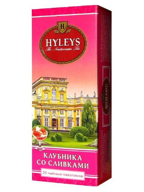 Черный чай Клубника со сливками Хэйлис, 25 пакетиков