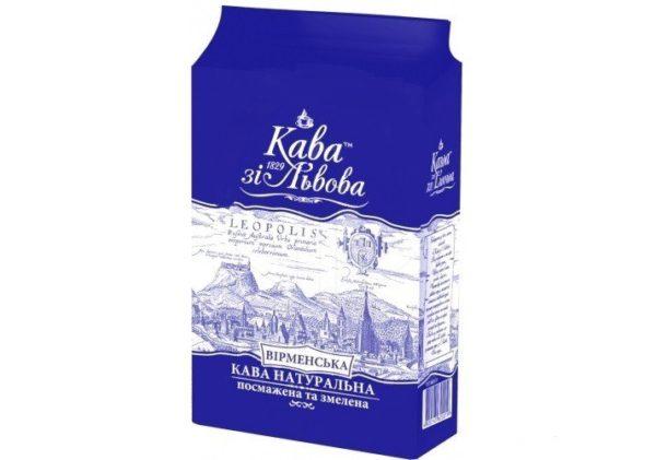 Кофе молотый Кава зі Львова, Вірменська, 240 г фото
