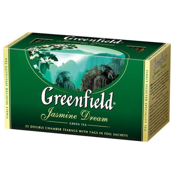 Зеленый чай Greenfield с жасмином, 25 пакетиков фото