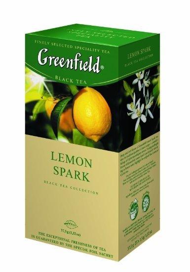 Черный чай Greenfield с лимоном, 25 пакетиков фото