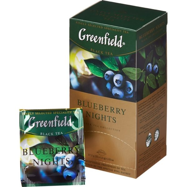 Чай черный Greenfield Черника, 25 пакетиков фото