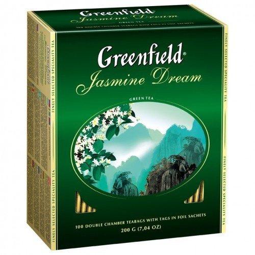 Зеленый чай Greenfield Jasmine Dream жасмин, 100 пак. фото