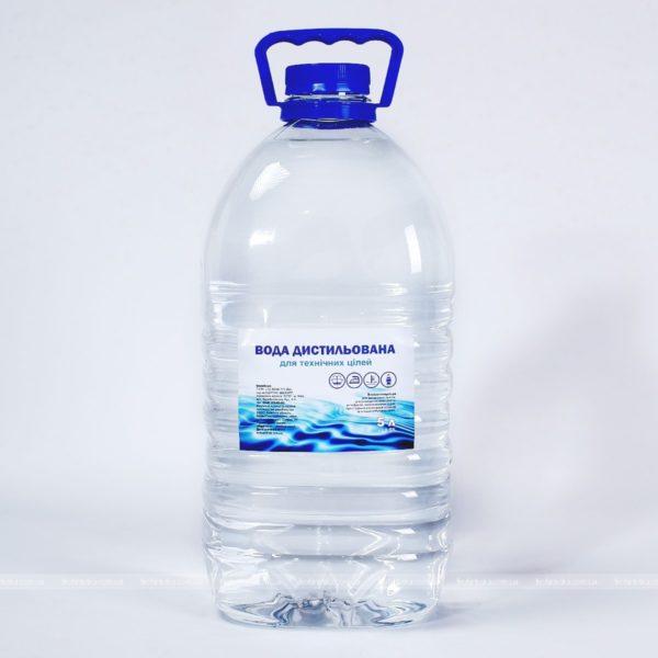 Дистиллированная техническая вода, 5 л фото