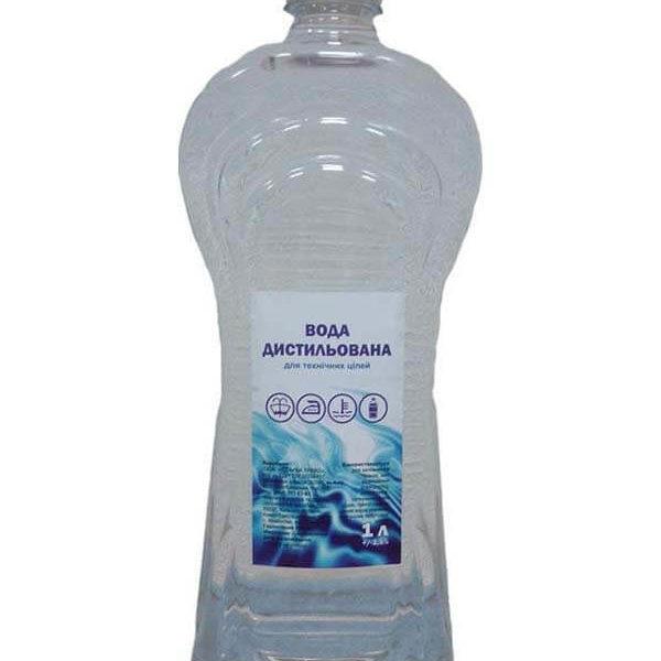 Дистиллированная техническая вода, 1 л фото