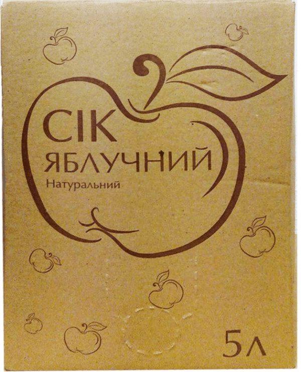 Сок яблочный натуральный прямого отжима, 5 л (пакет с краном) фото