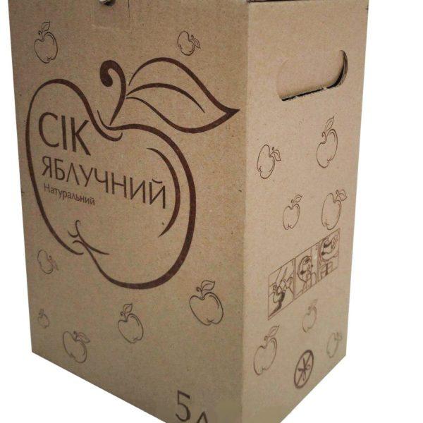 Сок яблочный натуральный прямого отжима, 5 л (пакет с краном)