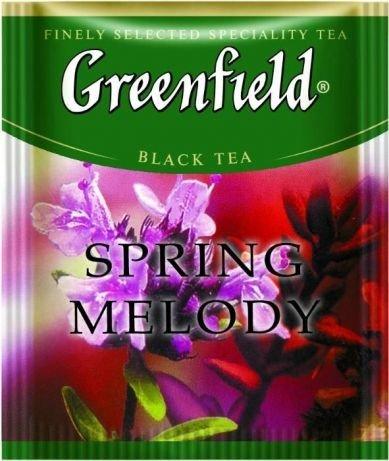 Черный чай Greenfield Spring Melody с чабрецом, 25 пакетиков
