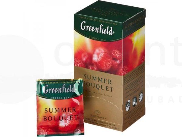 Чай Greenfield Summer Bouquet, летний букет, травяной, со вкусом малины, 25 шт. фото