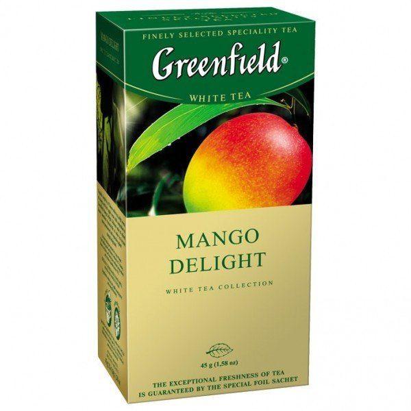 Белый чай Greenfield Манго, 25 пакетиков в фольге, фото