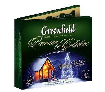 Чай Greenfield подарочный набор новогодний, 96 пакетиков фото