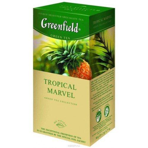 Чай зеленый Greenfield Тропикал, 25 пакетиков, фото