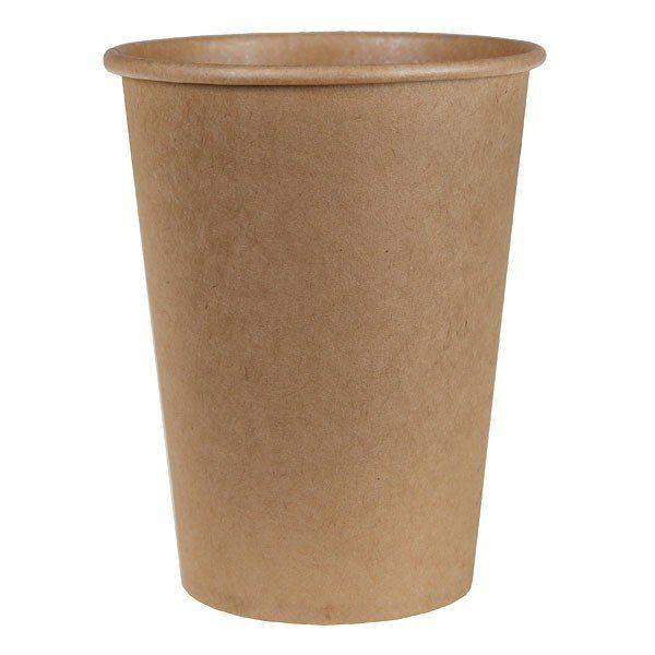 Одноразовые стаканчики бумажные Крафт, 500 мл фото