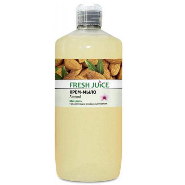 Жидкое крем-мыло Fresh Juice, папайя, миндаль, 1 л