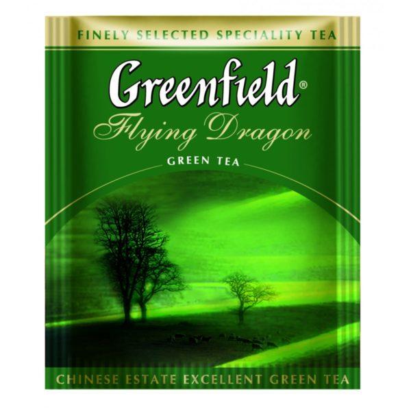 Чай зеленый Гринфилд | Greenfield Flying Dragon, 100 пакетиков фото
