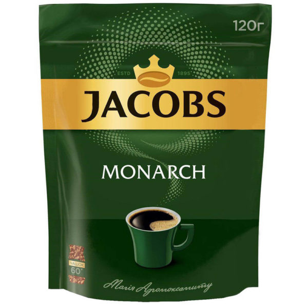 Кофе Якобс Монарх растворимый 120 г фото